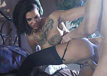 Hardcore cock lover Bonnie Rotten is looking beyond smoking, in her black lingerie. She opened her hot mouth wide and took some serious face fucking with our swollen pole going balls deep down her throat. Before sitting her tight fine ass on top of our cock fucking us far beyond driven into her pink pussy. Bonnie could not go one minute without pounding her throat with our meat and swallowed as much cum as she could.